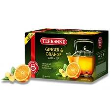 Чай  TEEKANNE  Имбирь - Апельсин [Ginger-Orange] - зеленый 20 пакетов (карт/уп)