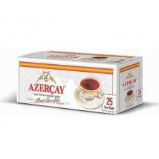 Чай  Азерчай  Черный Байховый с Бергамотом - 25 пакетов /без конверта/ (карт/уп)