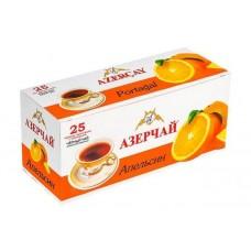 Чай  Азерчай  Черный Байховый Апельсин - 25 пакетов (карт/уп)