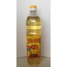 Масло  Добавкин  Подсолнечное Рафинированное - 0.9л (пласт/бут)
