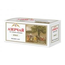 Чай  Азерчай  Черный Байховый Букет - 25 пакетов (карт/уп)