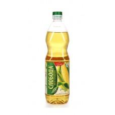 Масло  Слобода  Кукурузное Рафинированное - 1л (пласт/бут)