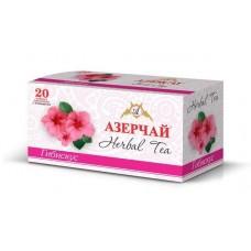 Чай  Азерчай  Травяной чай - Гибискус - 20 пакетов (карт/уп)