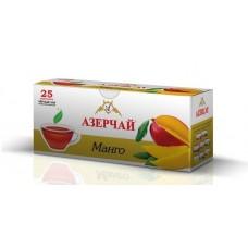 Чай  Азерчай  Черный Байховый Манго - 25 пакетов (карт/уп)