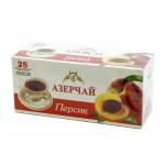 Чай  Азерчай  Черный Байховый Персик - 25 пакетов (карт/уп)