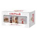 Чай  Азерчай  Черный Байховый (Букет + Экстра) /и кружка/ - 2х100г (ж/б)