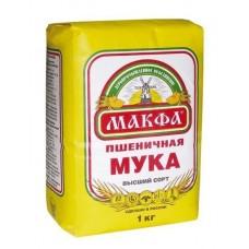 Мука  Макфа  Мука Пшеничная (высш.сорт) - 1кг (м/уп)