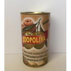Оливки  Coopoliva  Фарш. Пастой Из Анчоуса - 350г (ж/б)