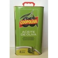 Масло  Coopoliva  Оливковое 100% Pure /рафинир./ - 4л (ж/б)