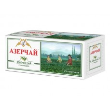 Чай  Азерчай  Зеленый с Чабрецом - 25 пакетов (карт/уп)