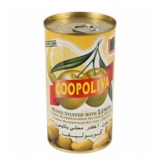 Оливки  Coopoliva  Фарш. Пастой Из Лимона - 350г (ж/б)