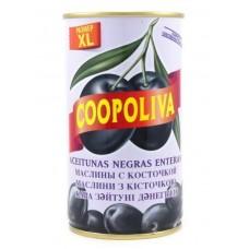 Маслины  Coopoliva  С Косточкой (размер XL) - 350г (ж/б)