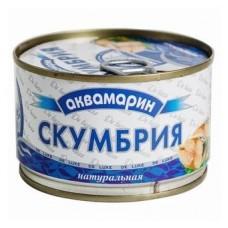 Консерва  Аквамарин  Скумбрия дальневосточн. натур. с добавл. масла - 240г (ж/б)