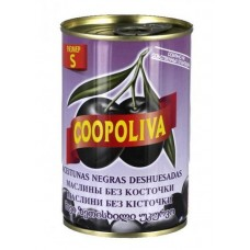 Маслины  Coopoliva  Без Косточки (размер S) - 300г (ж/б)