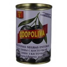 Маслины  Coopoliva  С Косточкой (размер S) - 300г (ж/б)