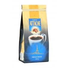 Кофе  Атташе  Французская обжарка (синий) - зерно 250г (м/уп)