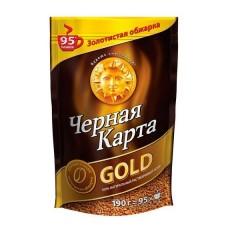 Кофе  Черная Карта  Голд - растворимый 190г (м/уп)