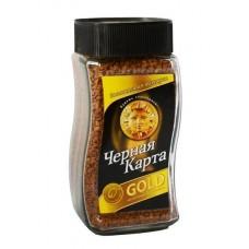Кофе  Черная Карта  Голд - растворимый 47.5г (ст/б)