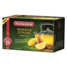 Чай  TEEKANNE  Манго - Цитрон [Mango-Zitrone] - зеленый 20 пакетов (карт/уп)