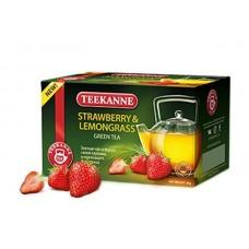 Чай  TEEKANNE  Клубника - Лемонграс [Straw-Lemongras] - зеленый 20 пакетов (карт/уп)